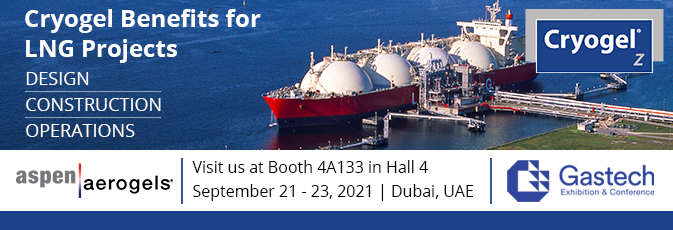 Aspen Aerogels attending Gastech 2021 - learn more about Cryogel Z's benefits for LNG projects